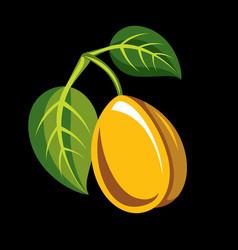 harvesting symbol single fruit isolated single vector image