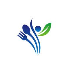health restaurant logo design template vector image