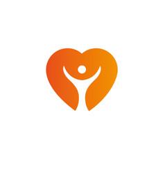 Heart logo templatecardiology medical health care vector