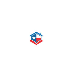 house realty star america logo vector image