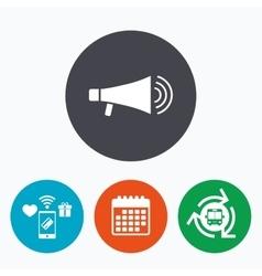Megaphone sign icon Loudspeaker symbol vector image
