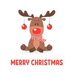 Merry christmas postcard christmas cute vector