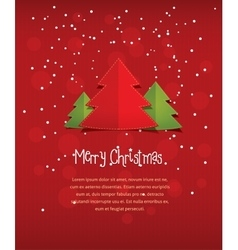 Merry Christmas red postcard vector image