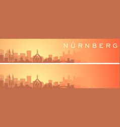 Nuremberg beautiful skyline scenery banner vector