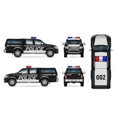 Police pickup car mockup vector