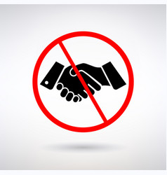 prohibiting handshake sign vector image