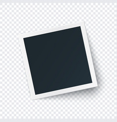 retro photo frame image template square vector image