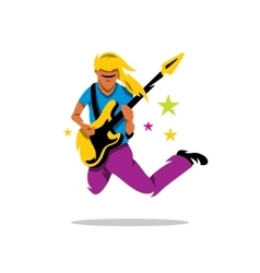 Rock Guitarist Cartoon vector