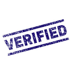 Scratched textured verified stamp seal vector