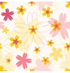 Seamless colorful pattern with flowers vector