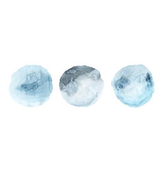 set of blue watercolor paint stain background vector image