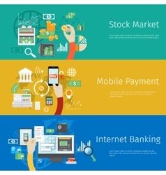 Set of payment concept web banners vector image