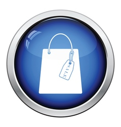 Shopping bag with sale tag icon vector image