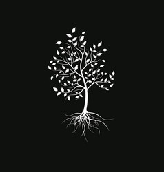 Silhouette a lonely tree vector