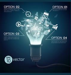 Splinter ideas bulb concept vector