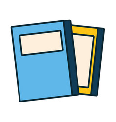 Stack books isolated icon vector