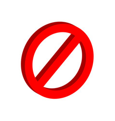 stop sign symbol flat isometric icon or logo 3d vector image