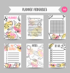 summer hand drawn organizer beach doodle elements vector image