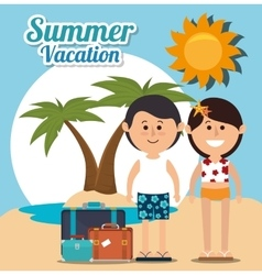 Summer vacations and travel vector image