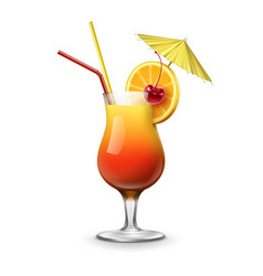 tequila sunrise cocktail vector image