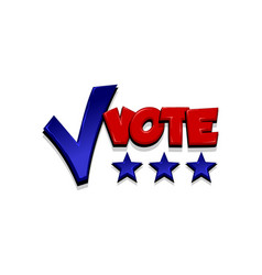 vote positive checkmark election icon text pop art vector image
