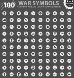 war symbols icons set vector image