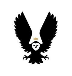 white owl bird logo icon vector image