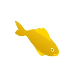 Yellow marine fish icon isometric 3d style vector image
