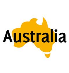 australia sticker stamp vector image
