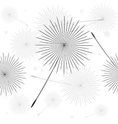 Dandelion thin line picture vector image