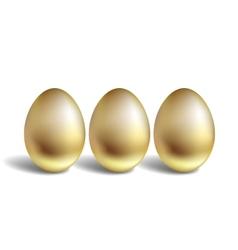Gold Egg Concept Unique golden eggs vector image