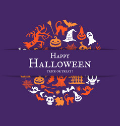 halloween background with place for text vector image vector image
