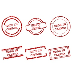 Made in Canada stamps vector image vector image