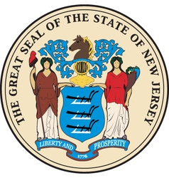 New Jersey Seal vector image