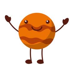 Planet pluto comic character vector