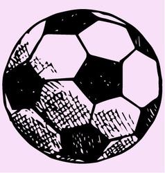 soccer ball football goal vector image