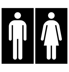 Toilet wc restroom sign vector image vector image