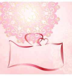 Wedding invitation card romantic ornament vector image