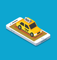 axi cab and mobile vector image vector image