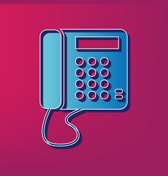 communication or phone sign blue 3d vector image vector image