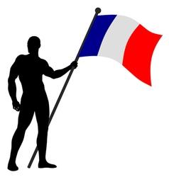 Flag Bearer vector image