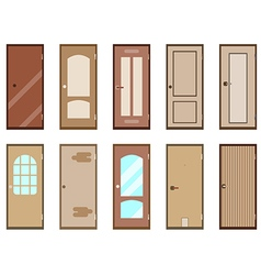 Flat door isolated on white background vector image