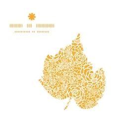 golden lace roses leaf silhouette pattern frame vector image vector image
