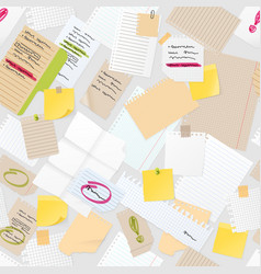 sticker notes pined on board seamless vector image vector image
