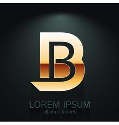 Graphic Elegant Gold Letter B vector image vector image