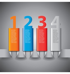 infographics vertical columns vector image vector image