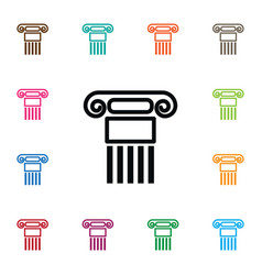 isolated history icon pillar element can vector image
