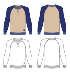 long sleeve t-shirt vector image