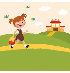 Pupil is back to school vector image