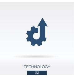 Technology concept icon logo vector image vector image